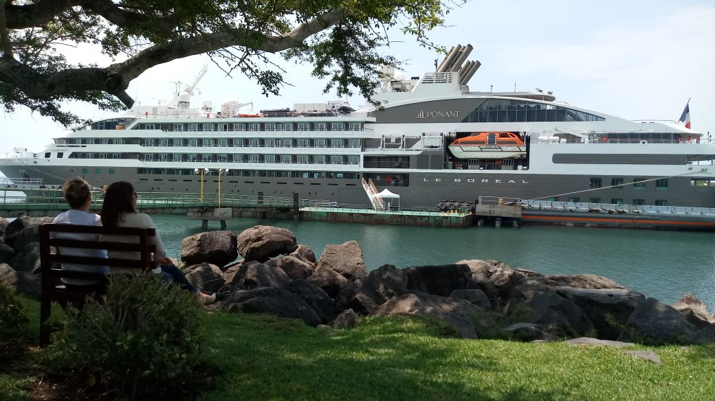 Le Boreal Cruise Arrives At Puerto Quetzal