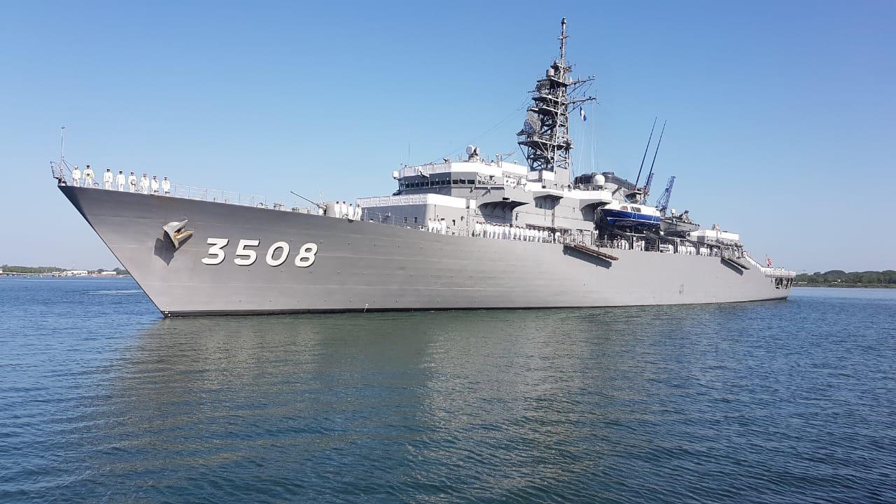 Empresa Portuaria Quetzal le da la bienvenida a los buques navales japoneses Kashima e Izanuma