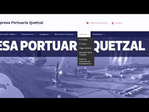 EMPRESA PORTUARIA QUETZAL – NUEVA PÁGINA WEB