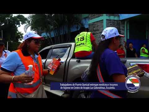 Empresa Portuaria Quetzal - Apoyo a damnificados por erupción del Volcán de Fuego
