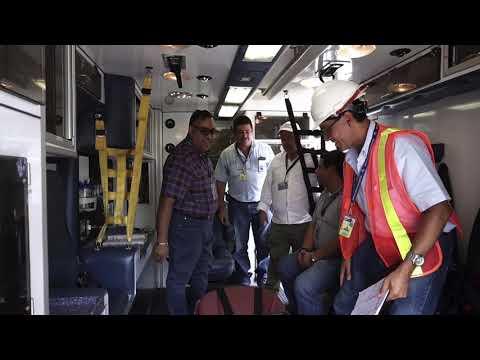 Puerto Quetzal recibieron Ambulancia por parte de Seguros Universales